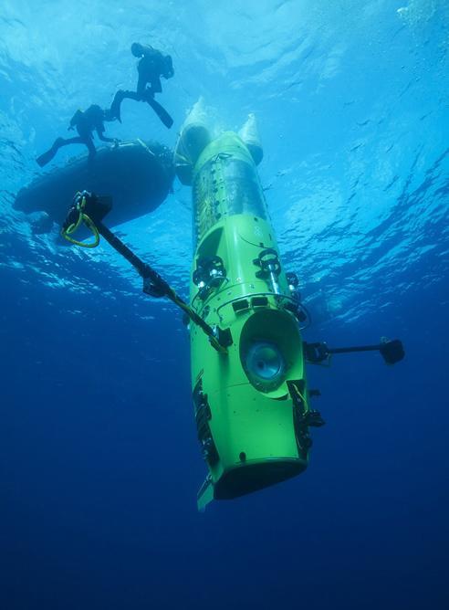 """El Submarino """"DeepSea Challenger"""" no sólo tiene el sello de la tecnología de James Cameron. También es el producto de 7 años de esfuerzo para desarrollar esta hazaña."""